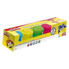 Гуашь пальчиковая 5цв Play-Doh со штампами