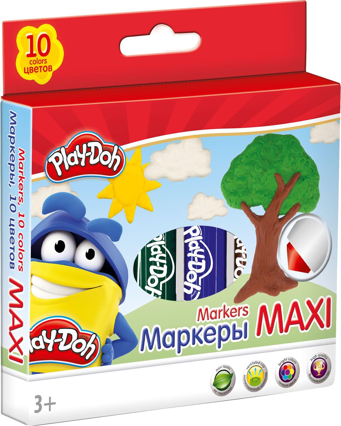 Фломастеры 10 цв Play-Doh MAXI MEGA JUMBO