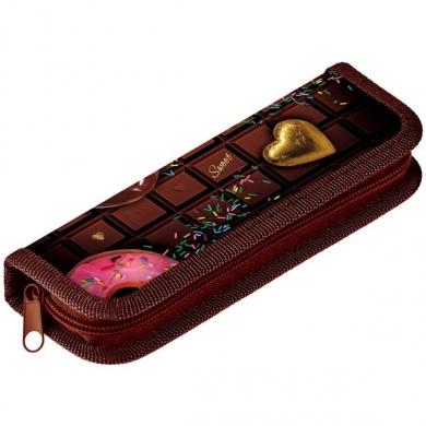 Пенал 1 отд пуст Шоколадное настроение узкий