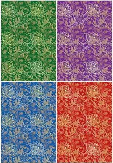 Картон цветной А4 4л 4цв тиснение Ажур одност
