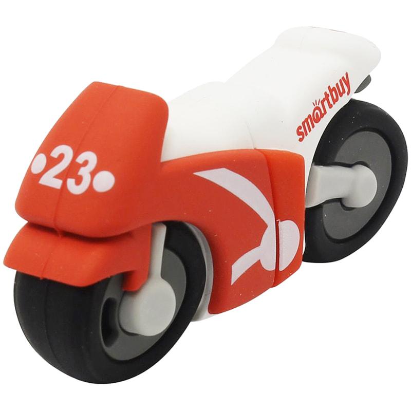 Флэш-карта USB 16GB Smartbuy Мотоцикл красная