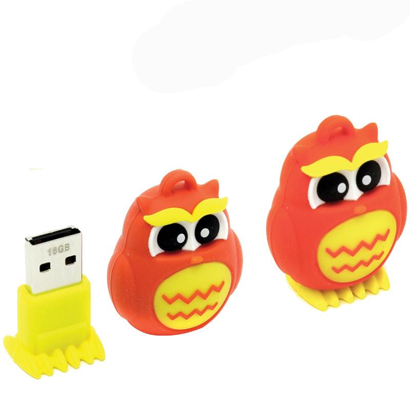 Флэш-карта USB 16GB 2.0 Smart Buy Сова красная