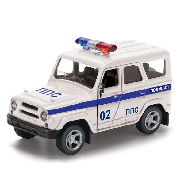 Машина УАЗ Hunter полиция металл. инерц., открыв. двери