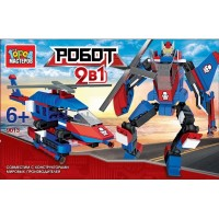 Конструктор 2-в-1 Робот + вертолет пласт.