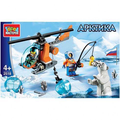 Конструктор Арктика: вертолет, с фигурками, 85дет. пласт.