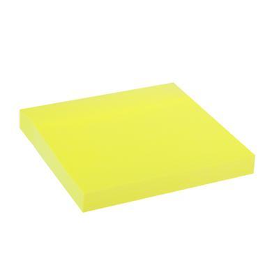 Блок липкий 76*76 100л желтый неон