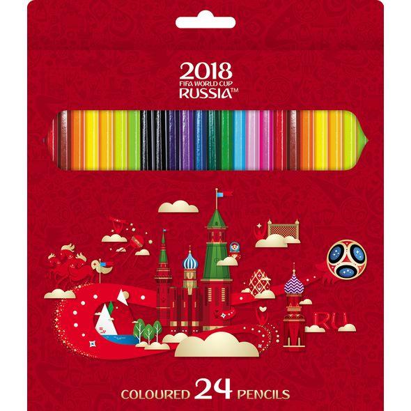 Карандаши цветные 24 цв ЧМ ПО ФУТБОЛУ 2018