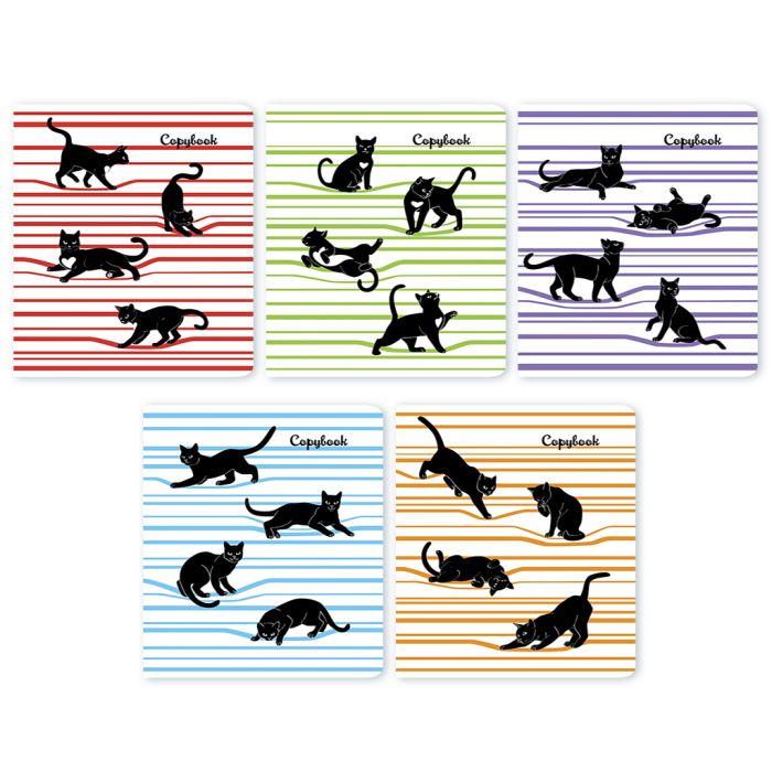 Тетрадь 48л кл Черные кошки