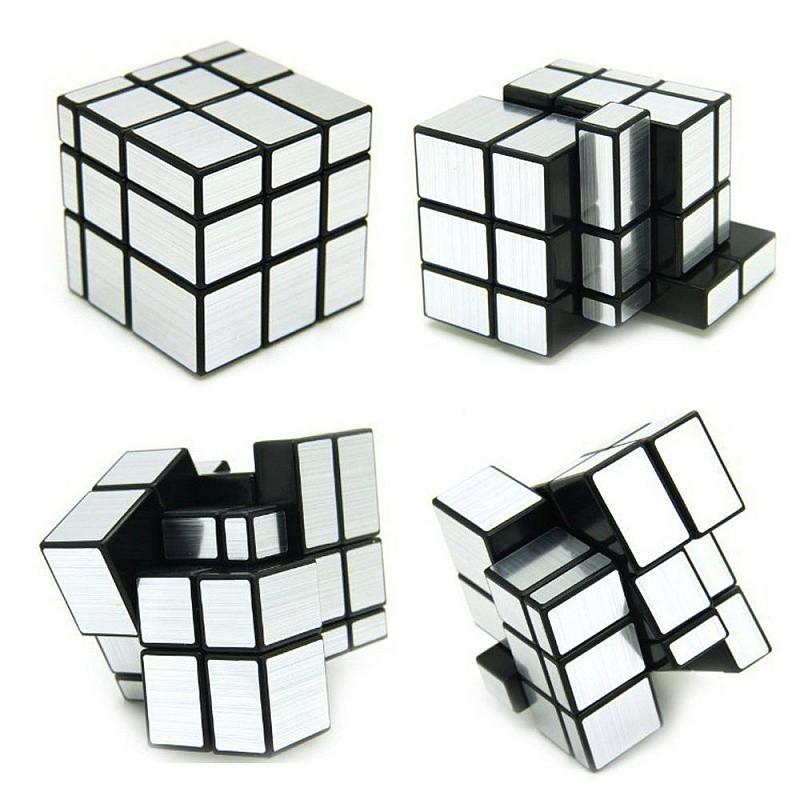 Головоломка Зеркальный Кубик Серебряный 3*3