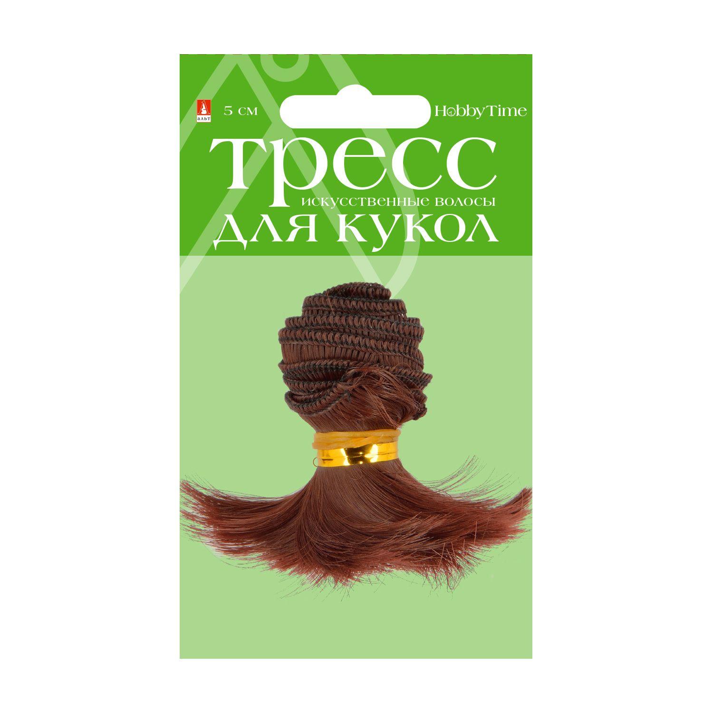 Творч Волосы-тресс для кукол Волна 17см, лента - 1 м, цвет МИКС