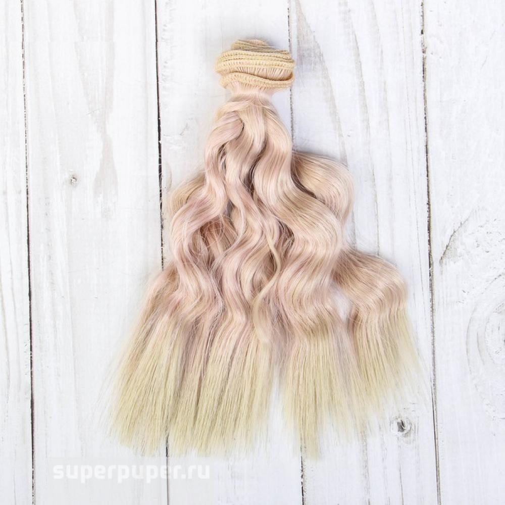 Творч Волосы-тресс для кукол Локоны 15см лента - 1 м, цвет МИКС