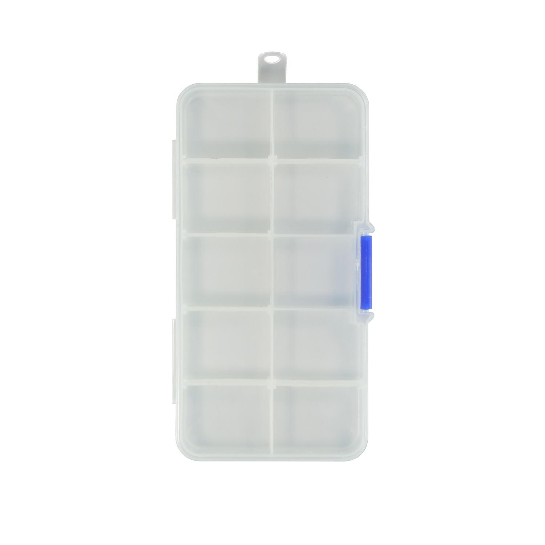 Творч Контейнер пластик 13,2*7,2*2,3см со съемными разделителями