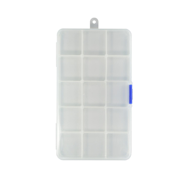 Контейнер пластик 17.6*10.2*2.2см со съемными разделителями