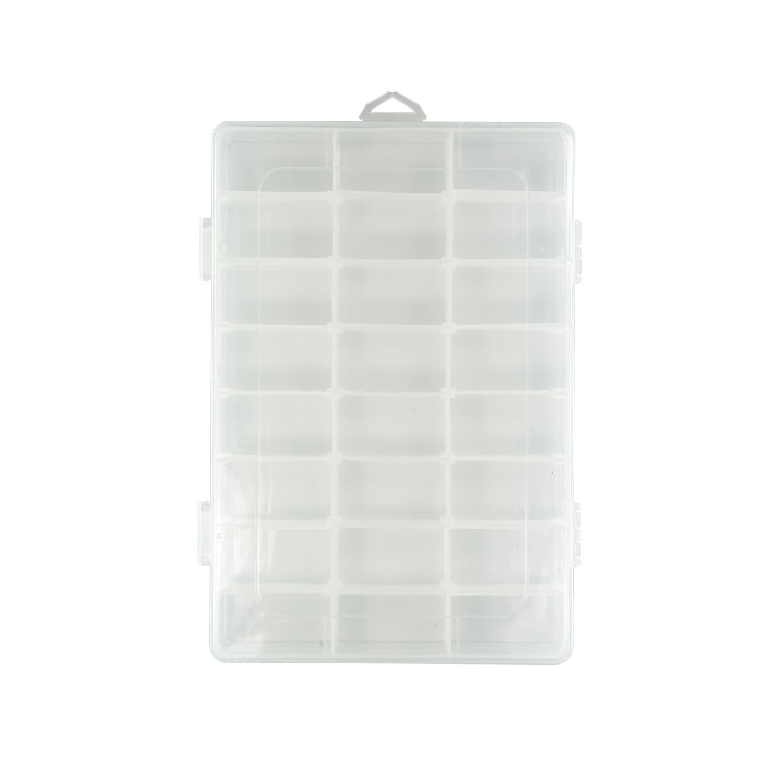 Творч Контейнер пластик 19.8*13.4*3.8см со съемными разделителями
