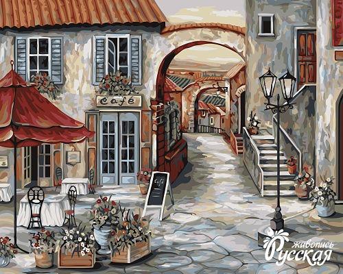 Творч Рисование по номерам 40Х50 Итальянское кафе