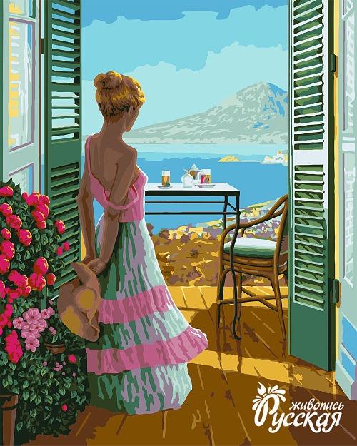 Творч Рисование по номерам 40Х50 Вид с балкона