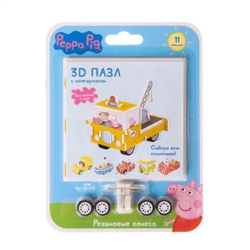 Пазл 3D Peppa Pig c резиновыми колесами и инерционным механизмом ассортим