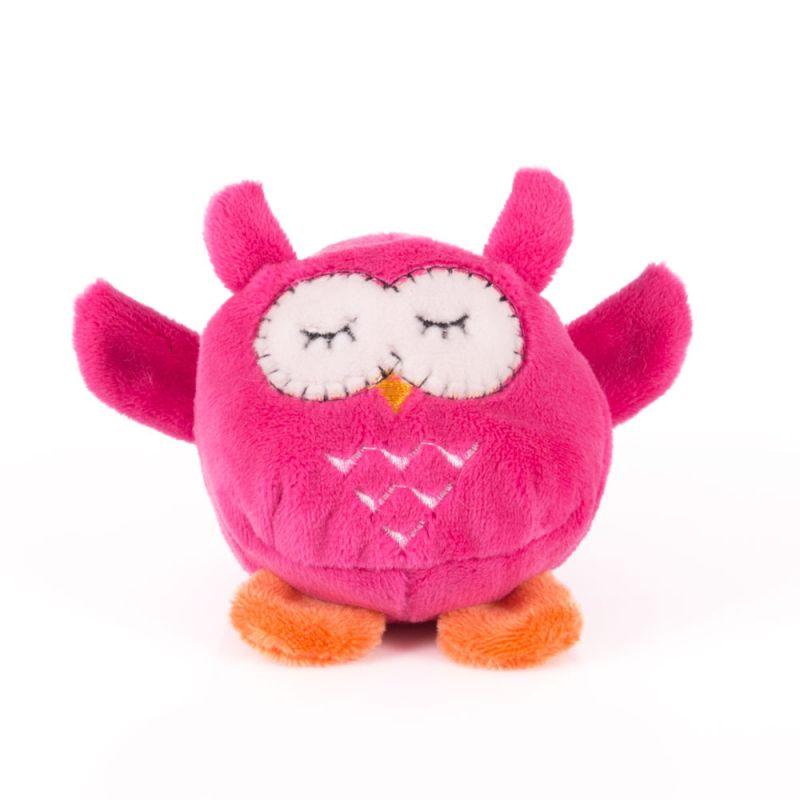 Мягконабивная Мячик-Розовая сова 7см