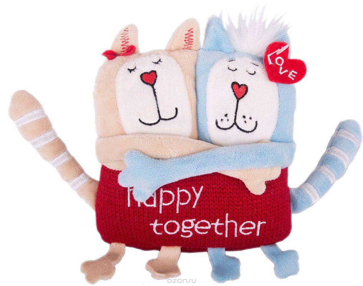 Мягконабивная Кот и кошка Счастливы вместе 15 см