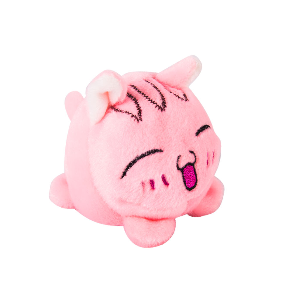 Мягконабивная Мячик-Кот розовый 7 см