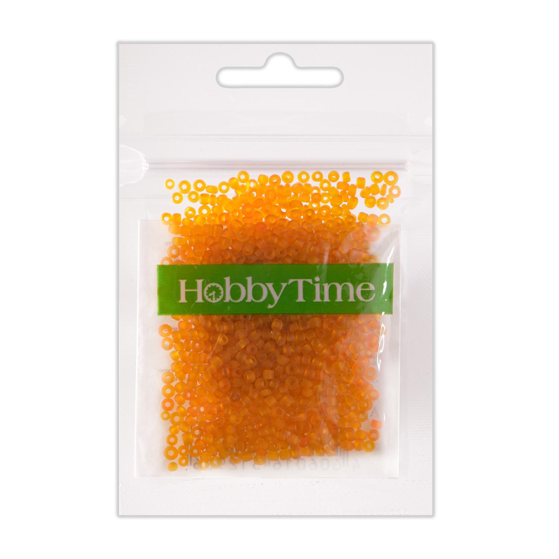 Бисер круглый frosted 2мм 10гр оранжевый