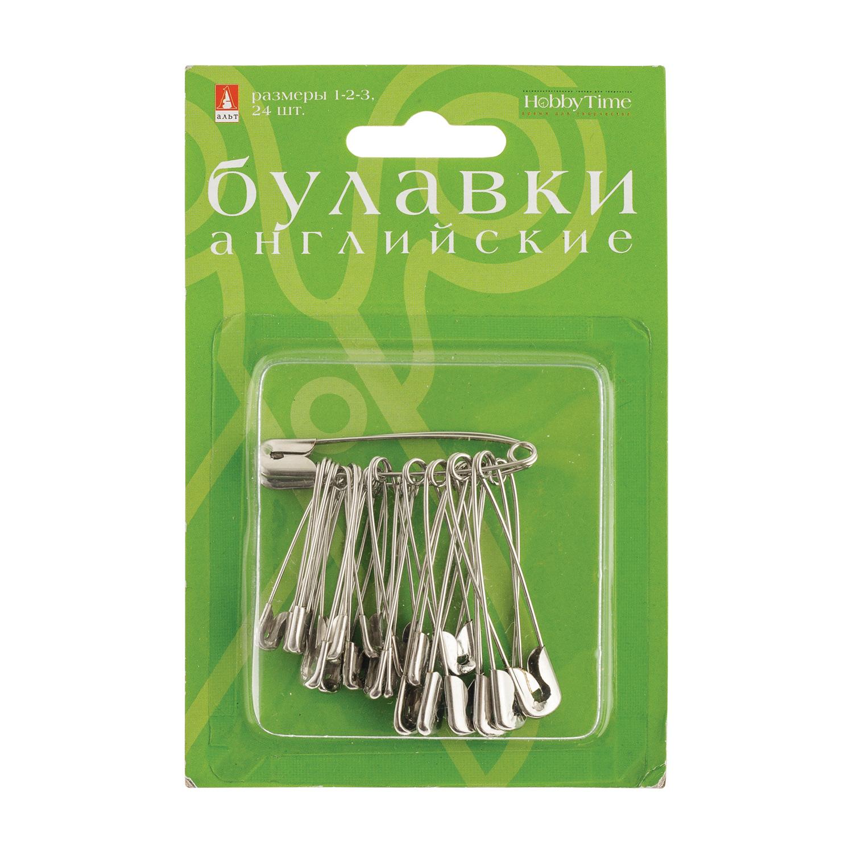 """Булавки """"английские"""" №1-2-3 24шт серебро"""
