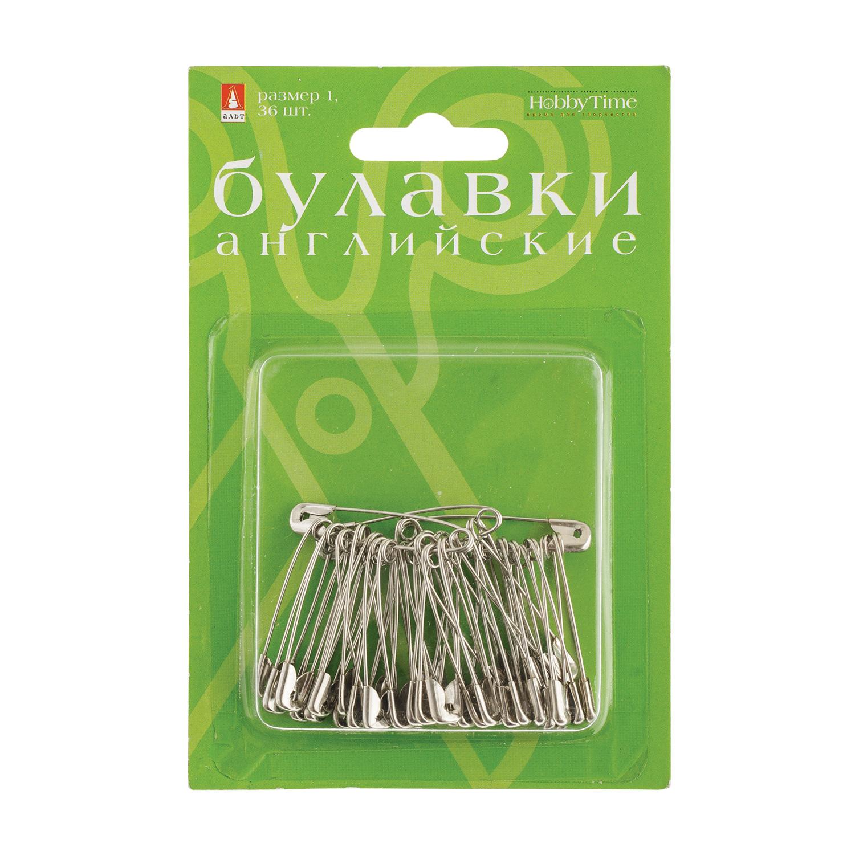 """Булавки """"английские"""" №1, 36 шт, серебро"""