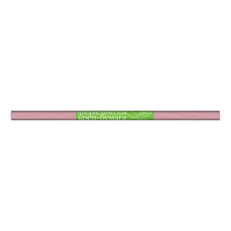 Бумага креповая флористика 50*250см 180г неон розовый