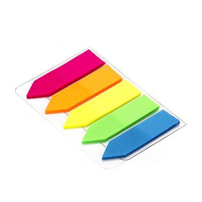 Блок липкий Закладки-разделители 5цв 100л 45*12мм неон