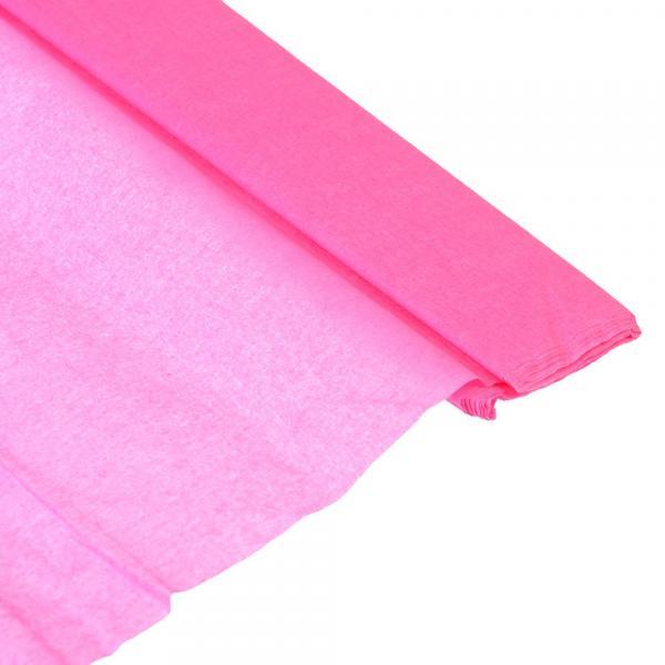 Бумага креповая 50*200см розовая