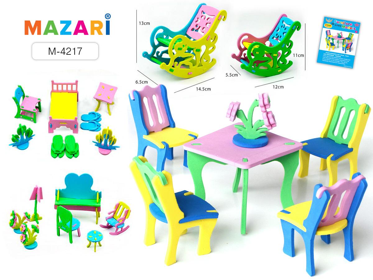 Пазл 3D Мебель, ассорти (EVA)