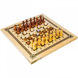 Настольная 3 в 1 Нарды, шашки, шахматы дерев. в ассорт.