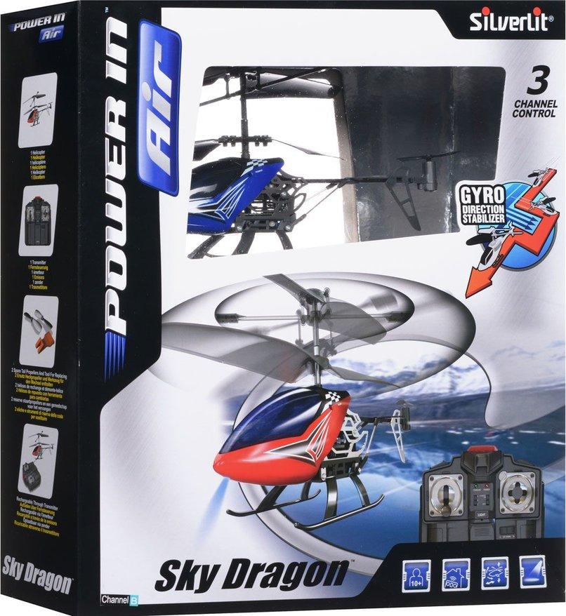 Вертолет Sky Dragon 3-канальный с гироскопом (красный)