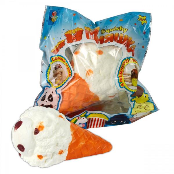 Антистресс Мммняшка squishy (сквиши) большой рожок мороженого
