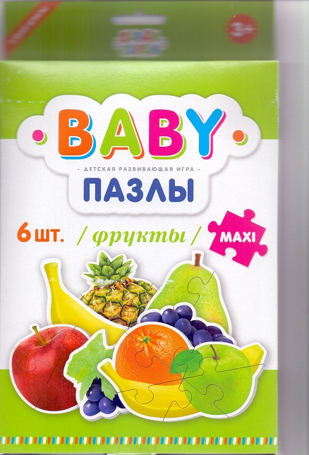 Пазл 6 BABY пазлы Maxi 390015 Фрукты