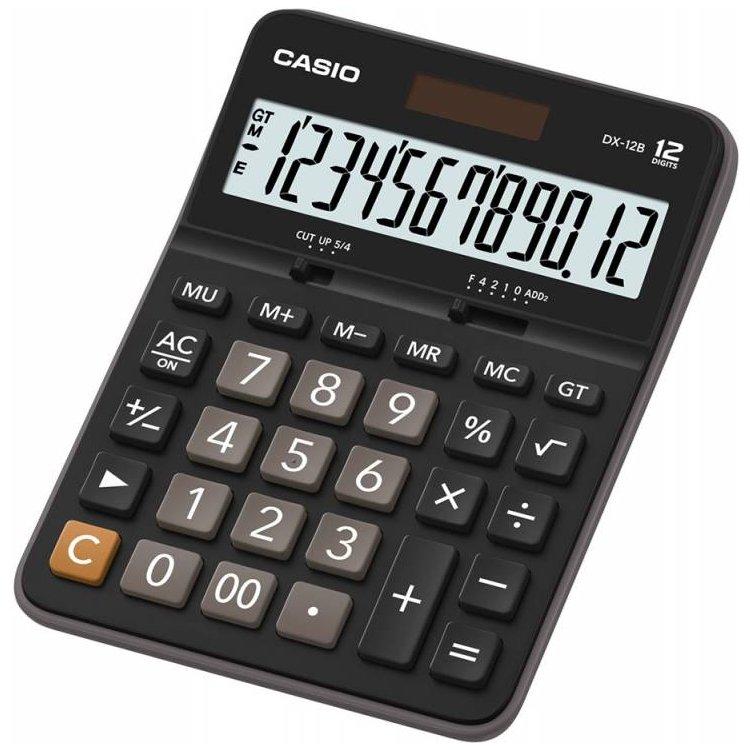 Калькулятор 12 разр. Casio настольный черный/коричневый