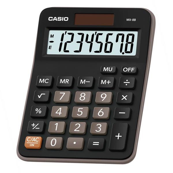 Калькулятор 8 разр. Casio настольный черный/коричневый