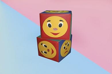 Мягкий модуль Куб Эмоции 25*25