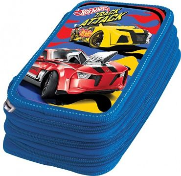 Пенал 3 отд полн Mattel Hot Wheels