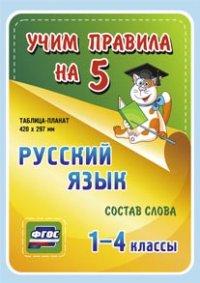Таблица-плакат Русский язык. 1-4 кл.: Состав слова ФГОС