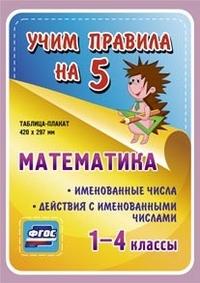 Таблица-плакат Математика. 1-4 кл.: Именованные числа. Действия .... ФГОС
