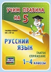 Таблица-плакат Русский язык. 1-4 кл.: Глагол. Спряжение ФГОС