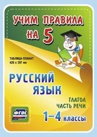 Таблица-плакат Русский язык. 1-4 кл.: Глагол. Часть речи ФГОС