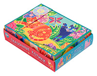 Игра Умные кубики в поддончике 12шт. Сказочные котики