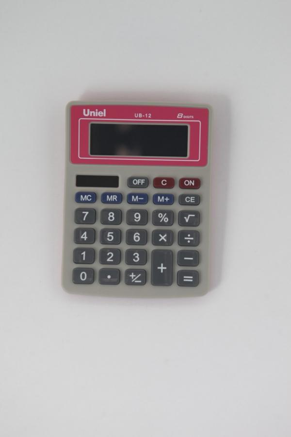 Калькулятор 8 разр. Uniel настольный красный