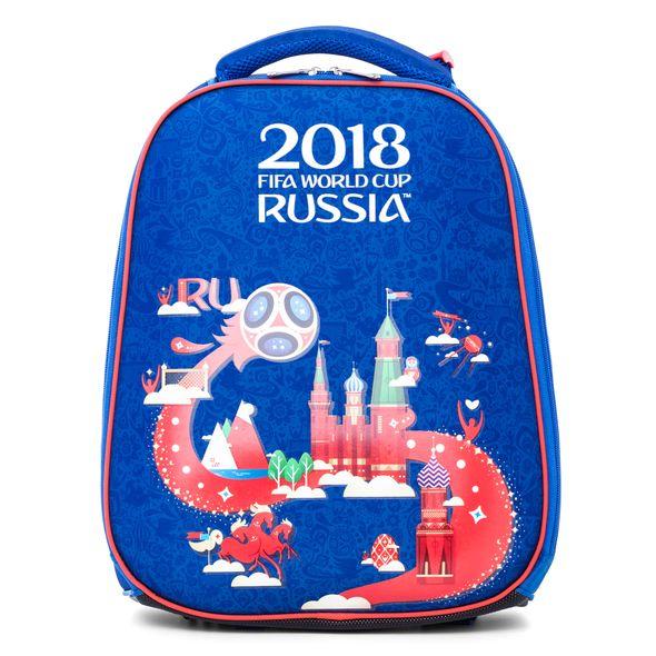 Ранец панцирный Hatber ЧМ ПО ФУТБОЛУ 2018 синий