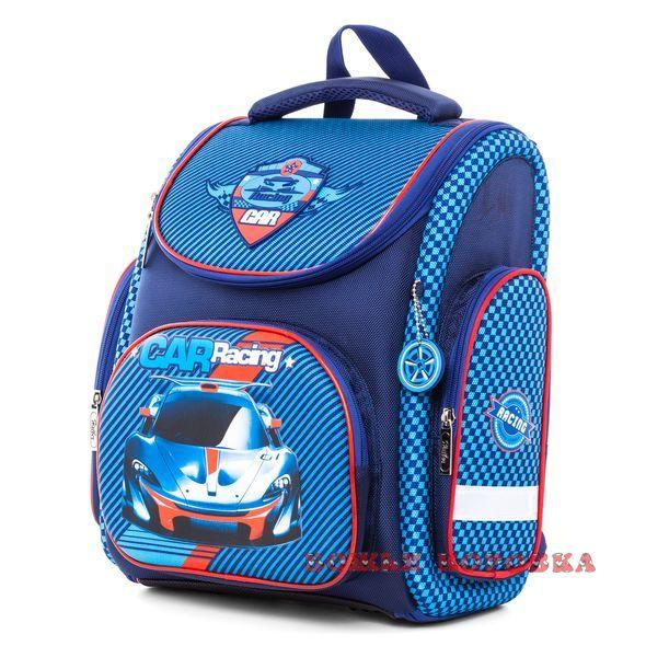 Ранец Hatber трансформер Racing Car синий + мешок