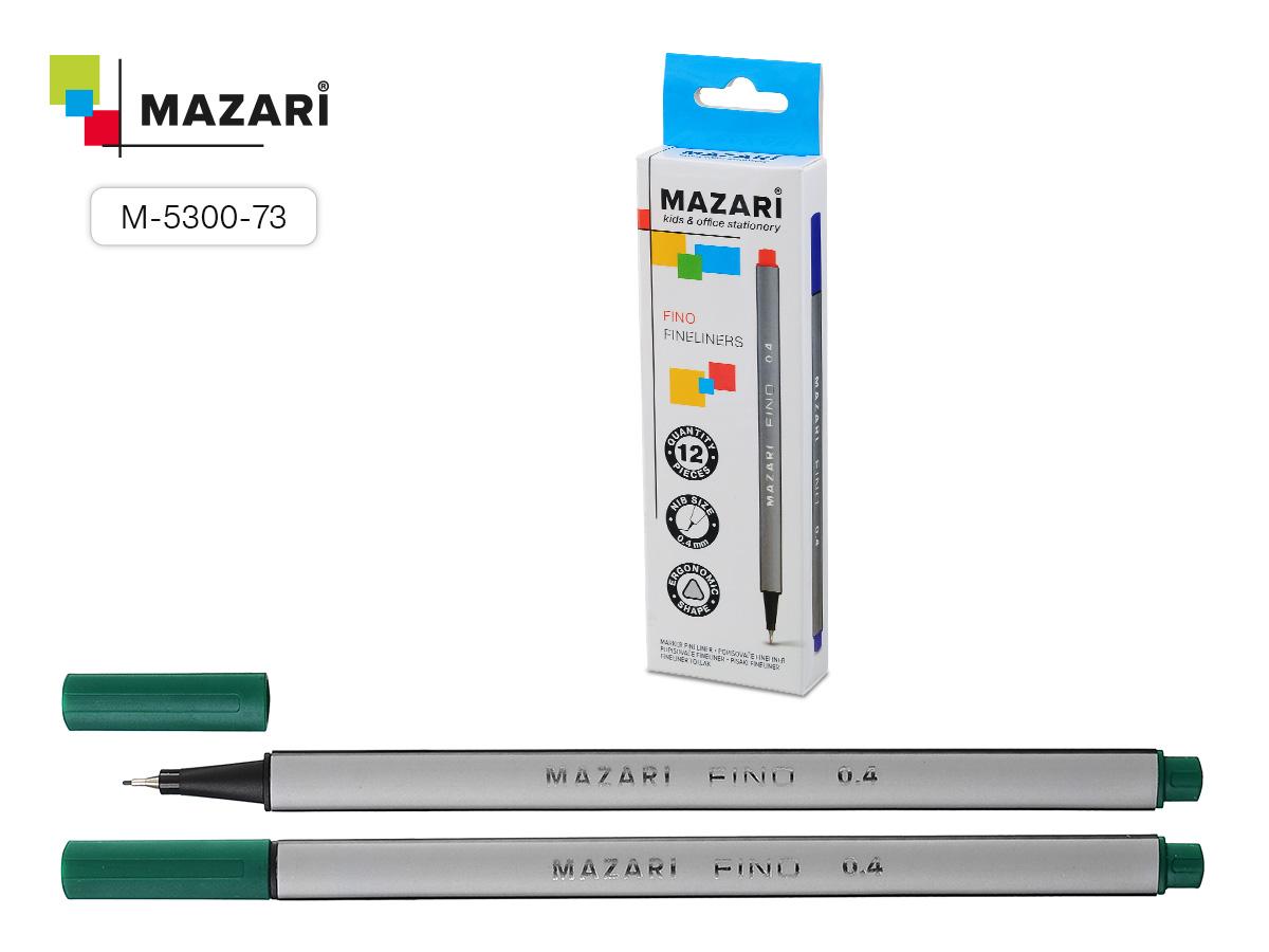 Ручка капиллярная Fino зеленый трехгран 0.4мм