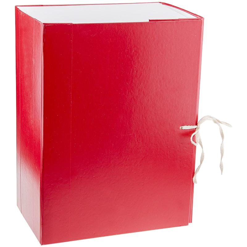 Папка-короб архивная 150мм бумвинил разборн на завязках ассорти