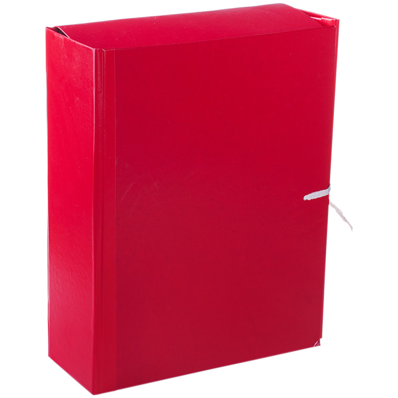 Папка-короб архивная 80мм бумвинил с завязками ассорти